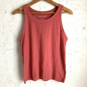 American Eagle mauve dusty rose ribbed tank top